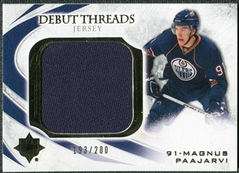 2010/11 Upper Deck Ultimate Collection Debut Threads #DTMP Magnus Paajarvi /200