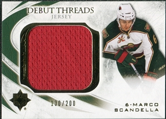 2010/11 Upper Deck Ultimate Collection Debut Threads #DTMS Marco Scandella /200