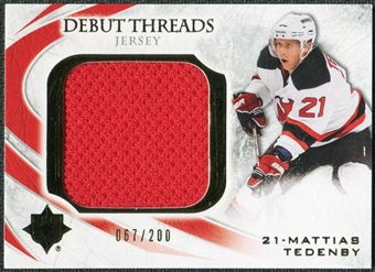 2010/11 Upper Deck Ultimate Collection Debut Threads #DTMT Mattias Tedenby /200