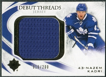 2010/11 Upper Deck Ultimate Collection Debut Threads #DTNK Nazem Kadri /200