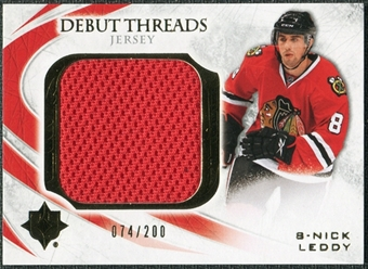 2010/11 Upper Deck Ultimate Collection Debut Threads #DTNL Nick Leddy /200
