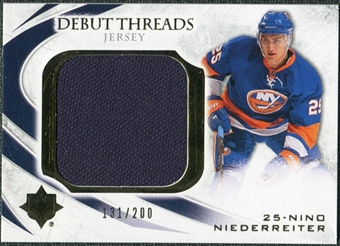 2010/11 Upper Deck Ultimate Collection Debut Threads #DTNN Nino Niederreiter /200