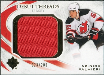 2010/11 Upper Deck Ultimate Collection Debut Threads #DTNP Nick Palmieri /200