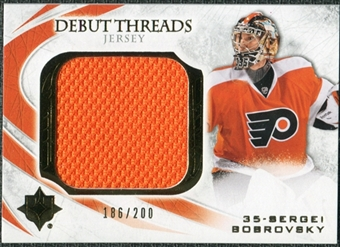 2010/11 Upper Deck Ultimate Collection Debut Threads #DTSB Sergei Bobrovsky /200