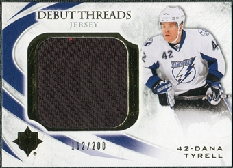2010/11 Upper Deck Ultimate Collection Debut Threads #DTTY Dana Tyrell /200