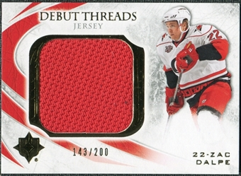 2010/11 Upper Deck Ultimate Collection Debut Threads #DTZD Zac Dalpe /200