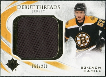 2010/11 Upper Deck Ultimate Collection Debut Threads #DTZH Zach Hamill /200