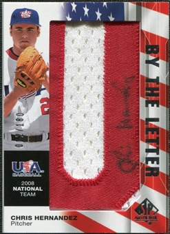 2008 Upper Deck SP Authentic USA National Team By the Letter Autographs #CH Chris Hernandez /180