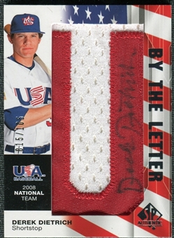 2008 Upper Deck SP Authentic USA National Team By the Letter Autographs #DD Derek Dietrich /105