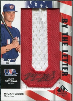 2008 Upper Deck SP Authentic USA National Team By the Letter Autographs #MG Micah Gibbs /180