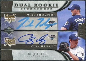 2006 Upper Deck Exquisite Collection #58 Clay Hensley Mike Thompson RC Autograph /55