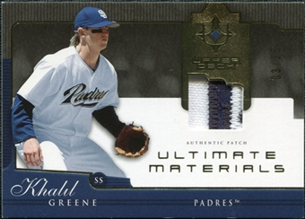 2005 Upper Deck Ultimate Collection Materials Patch #GR Khalil Greene /25