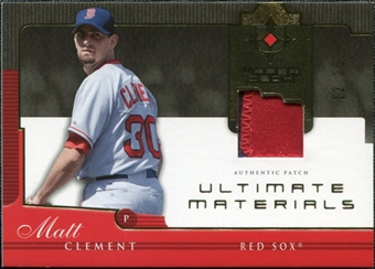 2005 Upper Deck Ultimate Collection Materials Patch #MC Matt Clement /15