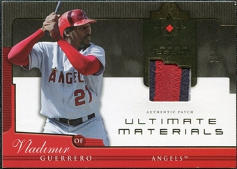 2005 Upper Deck Ultimate Collection Materials Patch #VG Vladimir Guerrero /25