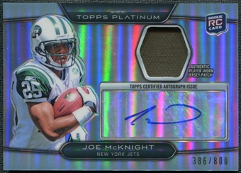 2010 Topps Platinum Autographed Patches #JM Joe McKnight /800