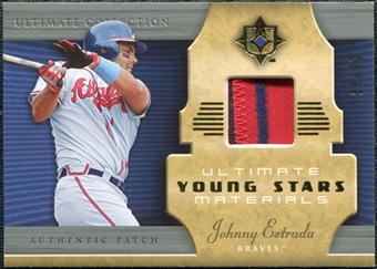 2005 Upper Deck Ultimate Collection Young Stars Materials Patch #JE Johnny Estrada /30