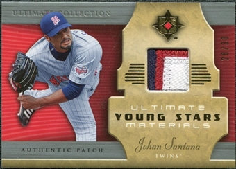 2005 Upper Deck Ultimate Collection Young Stars Materials Patch #JS Johan Santana /30