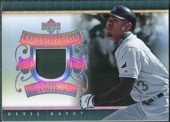 2007 Upper Deck UD Game Patch #CC Carl Crawford