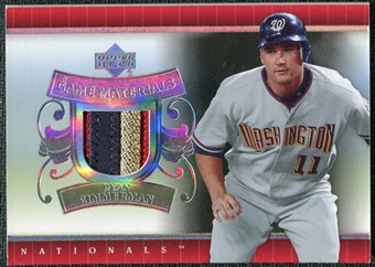 2007 Upper Deck UD Game Patch #RZ Ryan Zimmerman