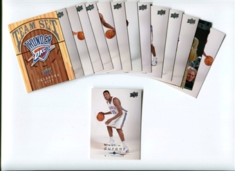 2008/09 Upper Deck Basketball Oklahoma City Thunder Team Set - DURANT!