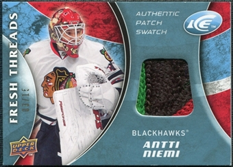 2009/10 Upper Deck Ice Fresh Threads Patches #FTAN Antti Niemi /15
