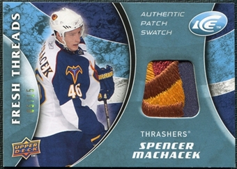 2009/10 Upper Deck Ice Fresh Threads Patches #FTSM Spencer Machacek /15