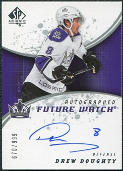2008/09 Upper Deck SP Authentic #244 Drew Doughty RC Autograph /999