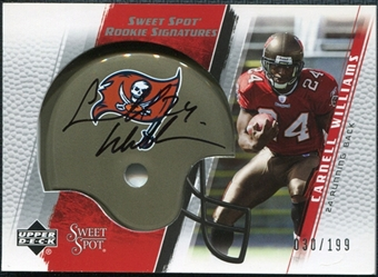 2005 Upper Deck Sweet Spot #280 Cadillac Williams /199 RC Autograph
