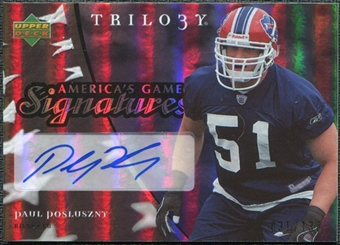 2007 Upper Deck Trilogy America's Game Signatures #PP Paul Posluszny /133