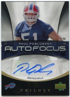 2007 Upper Deck Trilogy Auto Focus Autographs #PP Paul Posluszny Autograph /99