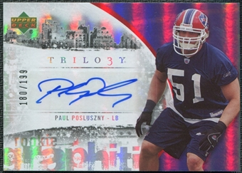 2007 Upper Deck Trilogy Graphiti Autographs #PP Paul Posluszny Autograph /199