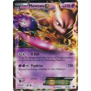 Pokemon Next Destinies Single Mewtwo ex 54/99 - NEAR MINT (NM)