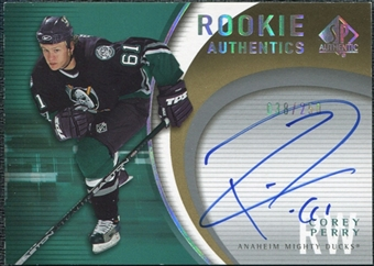 2005/06 Upper Deck SP Authentic Rookie Authentics #RACP Corey Perry Autograph /250