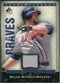 2008 Upper Deck SP Legendary Cuts Destination Stardom Memorabilia #BM Brian McCann