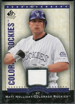 2008 Upper Deck SP Legendary Cuts Destination Stardom Memorabilia #MH Matt Holliday