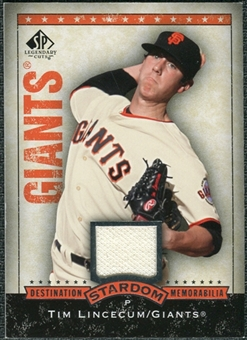 2008 Upper Deck SP Legendary Cuts Destination Stardom Memorabilia #TL Tim Lincecum