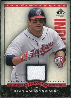 2008 Upper Deck SP Legendary Cuts Destination Stardom Memorabilia #RG Ryan Garko