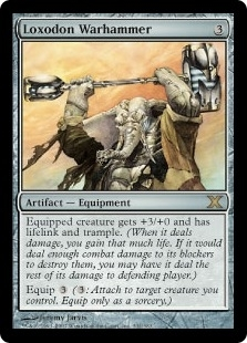 Magic the Gathering 10th Edition Single Loxodon Warhammer - SLIGHT PLAY (SP)