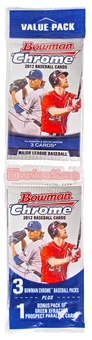 2012 Bowman Chrome Baseball Value Rack Pack