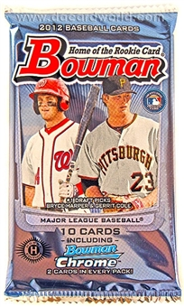 2012 Bowman Baseball Hobby Pack