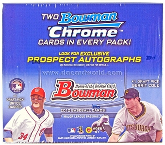 2012 Bowman Baseball Retail 24-Pack Box