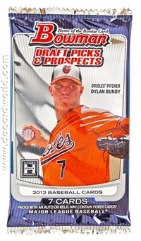 2012 Bowman Draft Picks & Prospects Baseball Hobby Pack