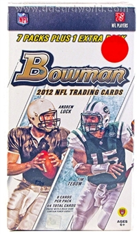 2012 Bowman Football 8-Pack Box - LUCK & WILSON ROOKIES !!! (10-Box Lot)