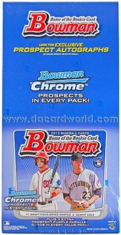 2012 Bowman Baseball Jumbo Rack Box (18 Packs)