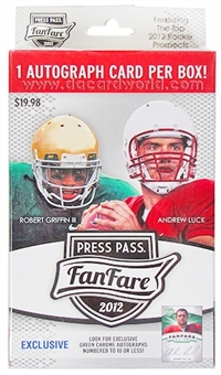 2012 Press Pass Fanfare Football Blaster Box - WILSON & LUCK ROOKIES!