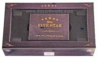 2012 Topps Five Star Football Hobby Box - WILSON & LUCK ROOKIES!