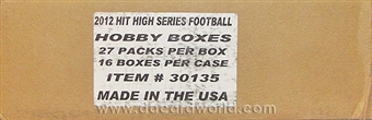 2012 Sage Hit High Series Football Hobby 16-Box Case