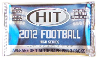 2012 Sage Hit High Series Football Hobby Pack