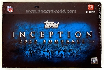 2012 Topps Inception Football Hobby Box - WILSON & LUCK ROOKIES!