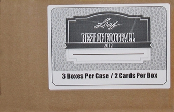2012 Leaf Best Of Football Hobby 3-Box Case